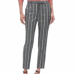 Banana Republic Linen Striped Pants Size 14